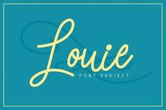 Louie Font - Free Font of The Week from FontBundles.net  We just discovered this site, and it hits the spot for fresh fonts!