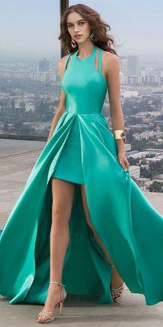 Halter A Line Prom Dress,Custom Made Evening Dress,17412