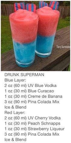 Hot Dog Bar Drunk superman didn't realize he was drunk! The post Hot Dog Bar appeared first on Getränk. Candy Drinks, Liquor Drinks, Cocktail Drinks, Champagne Drinks, Bourbon Drinks, Hot Dog Bar, Refreshing Drinks, Yummy Drinks, Alcohol Drink Recipes