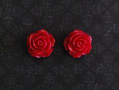 Magenta Rose Flower Girly Plugs  4g 2g 0g 00g by ryarr on Etsy, $12.99