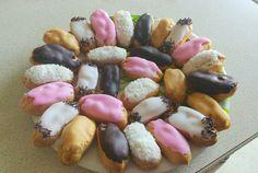Minis éclairs chocolat, café, vanille, noix de coco et grand-marnier