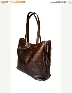 Wash brown leather tote purse large tote bag made in USA handmade with genuine leather retro fashion style tote purse bag preppy tote purse distressed totes This simple bag handmade Tote Handbags, Leather Handbags, Stylish Handbags, Brown Leather Totes, Leather Bags Handmade, Large Bags, Shoulder Handbags, Purses, Etsy Shop