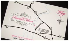 Make sure your guests can find your wedding with a custom designed map card from InvitationsByChrissy.com. #custommap