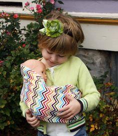 Poupée jouet pochette toile poupée porte-bébé par SnuggyBaby