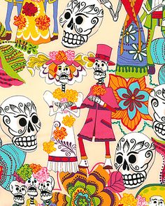 A future pastoral stole. Yes, I know it's different, but art is art. Dia de los Muertos is a joyous celebration.