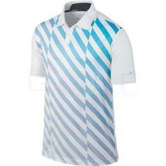 43ab93366ae Nike Golf Mens Tour Performance Dri-fit Ultra Stripe Polo Shirt - Blue M  for sale online | eBay