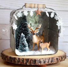 Décorations de Noël rustique Decor Noël Diorama Noël manteau