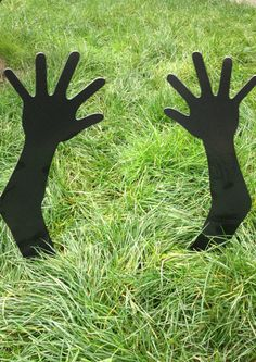 Metal Zombie Hands to Plant in Your Yard for Halloween