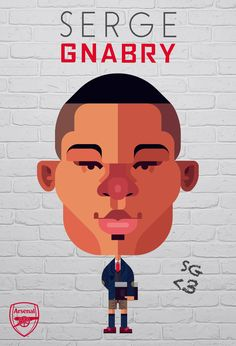 Serge Gnabry was featured in our Arsenal v Southampton Matchday Programme. Illustration by © Daniel Nyari / iamdany.com