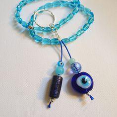 Blue Evil Eye Keychain