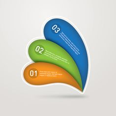 Numbered Infographic. #colorful #infographic #design
