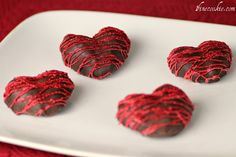 Strawberries, homemade marshmallows, dipped in chocolate to look like hearts. #valentines day
