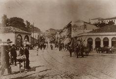 1907 - Rua João Alfredo, antiga Ladeira do Palácio (atual rua General Carneiro). Foto tirada a partir da rua 25 de Março.