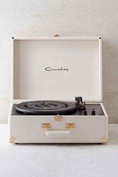 Crosley X UO AV Room White Portable USB Vinyl Record Player - Urban Outfitters