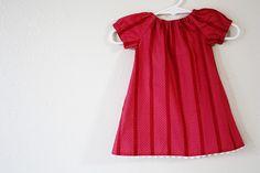 Vestido infantil campesino Patrón gratuito