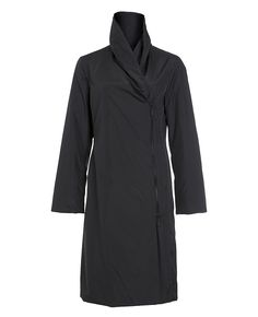 coat shawl collar rainwear