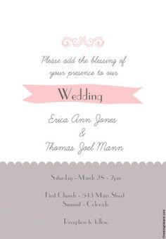 Invitation Templates For Free Create Your Own Wedding Invitations With These Free Templates  Free .