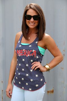 #Merica {Tank} Definitely for Memorial Day and 4th of July ;)
