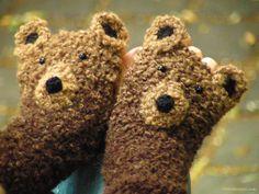 Bear Fingerless Gloves