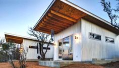 Cozy country living. The Llano River Cabin Compound in Texas is about 70 miles west of Austin. Photo credit: Alex Stross via Matt Garcia Design