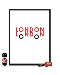 London Bus Poster typographic A2 165 x 234 in by ilovedesignlondon, $35.00