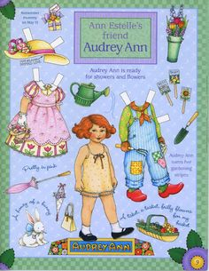 Audrey Paper Doll.This From terikpettit - MaryAnn - Picasa Web Albums * 1500 free paper dolls for other Pinterest paper doll pals at Arielle Gabriel's The International Paper Doll Society *