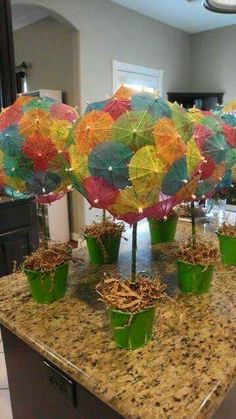 Cocktail Umbrella Centerpiece
