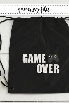 Make fun Gamer Shirts for your favorite video gamer with these SVG files from Everyday Party Magazine. #SVGSaturday #EverydayPartyMagazineShop #GameOn #GameOver #XBOX #Playstation