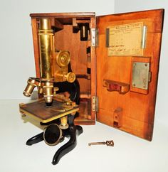 In my dreams...... Cool Antique Numbered E. Leitz German Microscope in by Wsloutlet