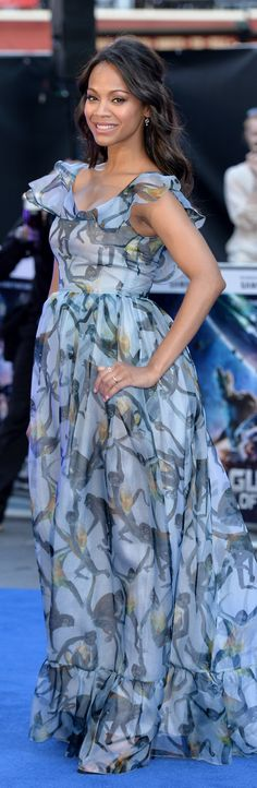 Maternity Style? Zoe Saldana in Valentino at the Guardians Of The Galaxy premiere