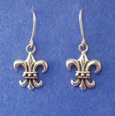 French Fleur de Lis Earrings