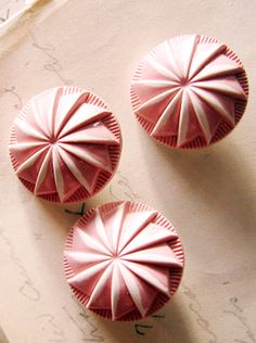 Pink Peppermint Twist Vintage Buttons