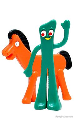 Gumby & Pokey dolls.  Didn't you hate it when the wire would start to poke through!