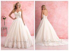 Gorgeous Strapless Sweetheart A-line Wedding Dress