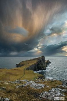 Approaching snow storm at Neist Point, Isle of Skye. Please feel free to share . Spring Wallpaper, Alien Worlds, Yorkshire Dales, Scotland Travel, Lake District, Beautiful World, Outlander, Landscape Photography, Travel Inspiration
