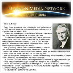 David O. McKay -- MormonMediaNetwork.com