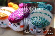 Shining sushi Amigurumi Free Pattern | Amigurumi Food | Bloglovin'