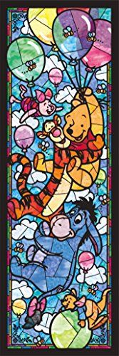 456 piece jigsaw puzzle Stained Art Winnie the Pooh * Details can be found by clicking on the image.