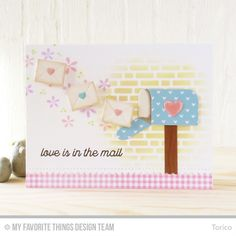 Mailbox Die-namics, Stitched Scallop Basic Edges 2 Die-namics, Love Is in the Mail Stamp Set, Bold Blooms Stamp Set - Torico   #mftstamps