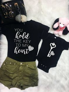 Mommy and me outfit, Gift for mom, gift for her, baby girl, baby shower gifts, mommy and me shirts, new mom gift, mom baby matching,bodysuit #ad