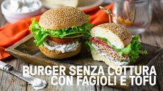 Burger vegani senza cottura di fagioli rossi e tofu affumicato - Vegolosi.it Fagioli Rossi, Salmon Burgers, Ale, Veggies, Chicken, Ethnic Recipes, Food, Youtube, Vegetarian