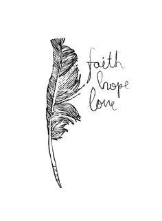 faith, hope and love. my latest illustration.
