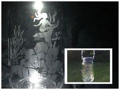 Mermaid Solar Light  Garden Decor  Mason Jar by CraftyToucanShop