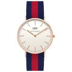 Buy Daniel Wellington Women's Classic Rose Gold PVD Nato Strap Watch Online at johnlewis.com