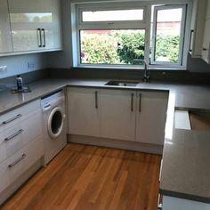 Magnifico De Lusso - Littlehampton, West Sussex - Rock and Co Granite Ltd Stacked Washer Dryer, Washer And Dryer, U Shaped Kitchen, Granite, Washing Machine, Home Appliances, U Shape Kitchen, House Appliances, Washing And Drying Machine