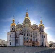 Dormition Cathedral at the Kiev Pechersk Lavra in Kiev...be there in one month. <3