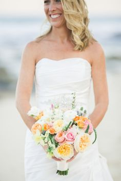 Spring bouquet: http://www.stylemepretty.com/little-black-book-blog/2015/03/03/intimate-destination-wedding-at-the-cabo-surf-hotel/   Photography: Sara Richardson - http://www.sararichardsonphoto.com/