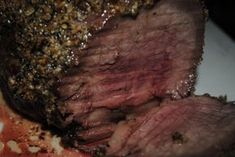 Perfectly cooked top sirloin roast
