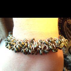 Jumpring bracelet I made.   Working on more.