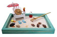 Beach Zen Garden, A Day at The Beach, Mini Desktop Sandbox for Meditation and Relaxation – Toys Miniature Zen Garden, Mini Zen Garden, Zen Garden Design, Black And White Baby, Beach Toys, Water Toys, Animal Decor, Sandbox, Animal Nursery